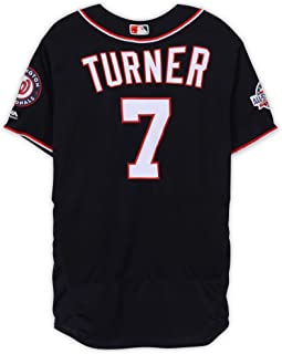 Trea Turner Washington Nationals Game-Used #7 Navy Jersey with All-Star Game Patch vs. Chicago Cubs on September 13, 2018 - Fanatics Authentic Certified