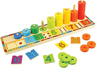 Bigjigs Toys Wooden Learn to Count Stacking Toy