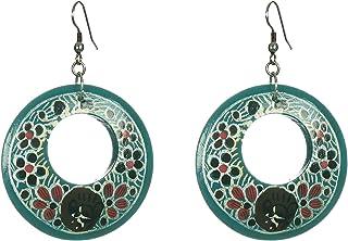 DCA Turquoise Wood Women Earrings (2115)
