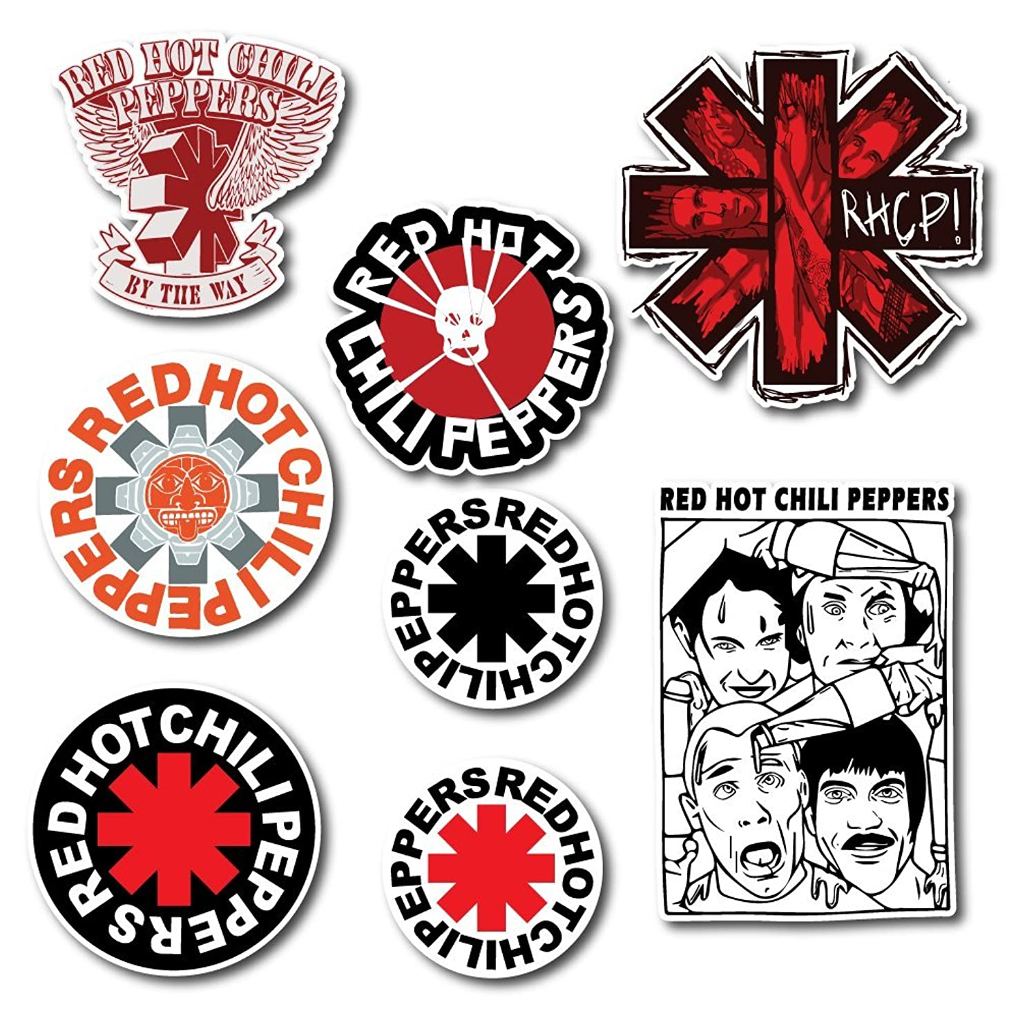 Red Hot Chili Peppers Sticker Set Pack Rock Band Decal for Car Window, Bumper, Laptop, Skateboard, Wall, ETC. Set-028