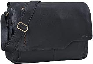 STILORD  Marlon  Leather Bag Men Business University Vintage Shoulder Bag Crossbody Messenger Bag Laptop 15 6 inches Genuine Leather  Colour Black