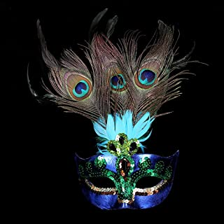 Masquerade mask, Women Peacock Mask Mardi Gras Party Fancy Dress Costumes Venetian Mask