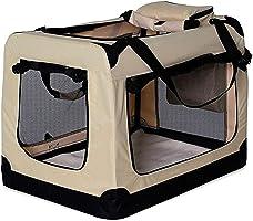Torba do transportu psów, torba dla psa, składana, torba dla małych zwierząt, kolor beżowy, rozmiar M