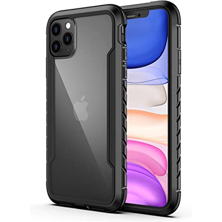 Aodh Compatible with Apple iPhone 11 Pro - Military Grade Drop Tested, Anodized Aluminum, TPU, and Polycarbonate Protective Case, Edge Shockproof 5.8 inch Back Clear Cases, Black