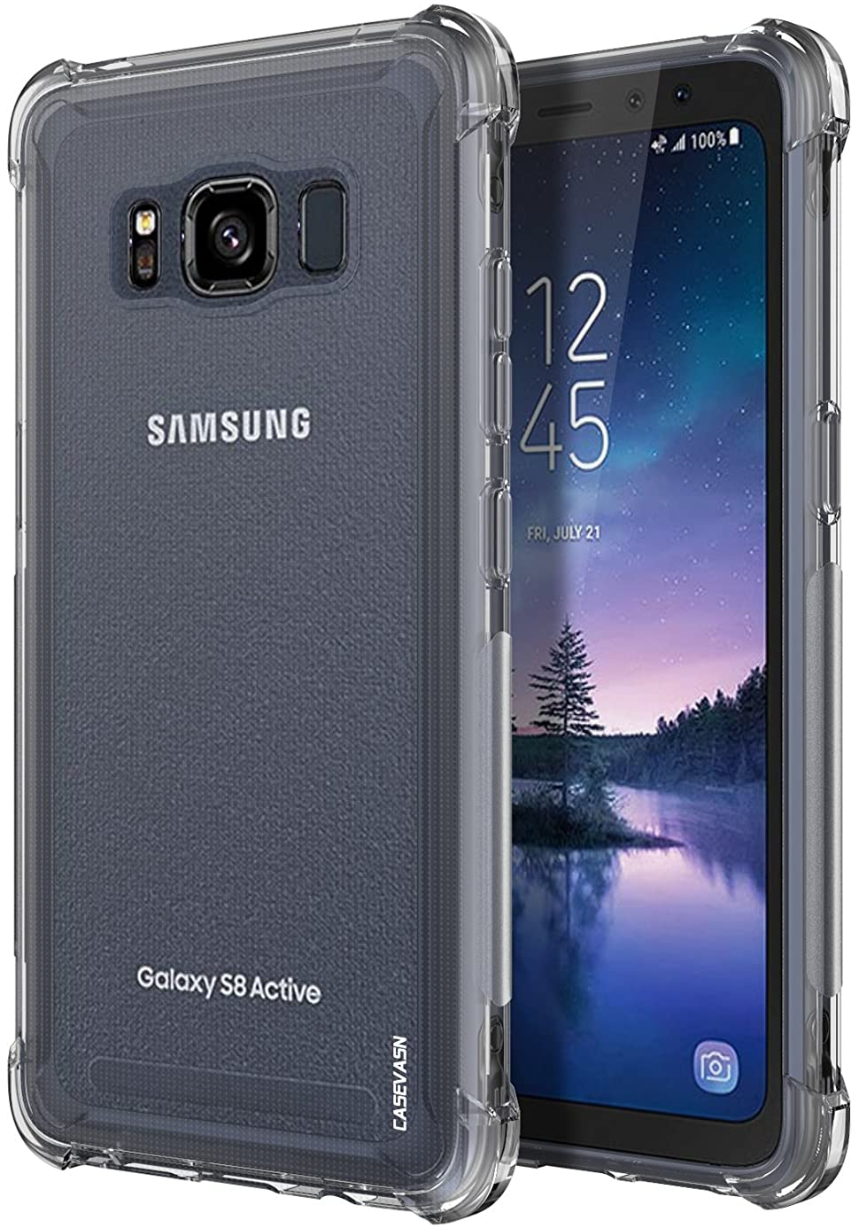 Galaxy S8 Active Case, CASEVASN [Shockproof] Anti-Scratches Flexible TPU Gel Slim Fit Soft Skin Silicone Protective Case Cover for Samsung Galaxy S8 Active (Clear) ibe9411116