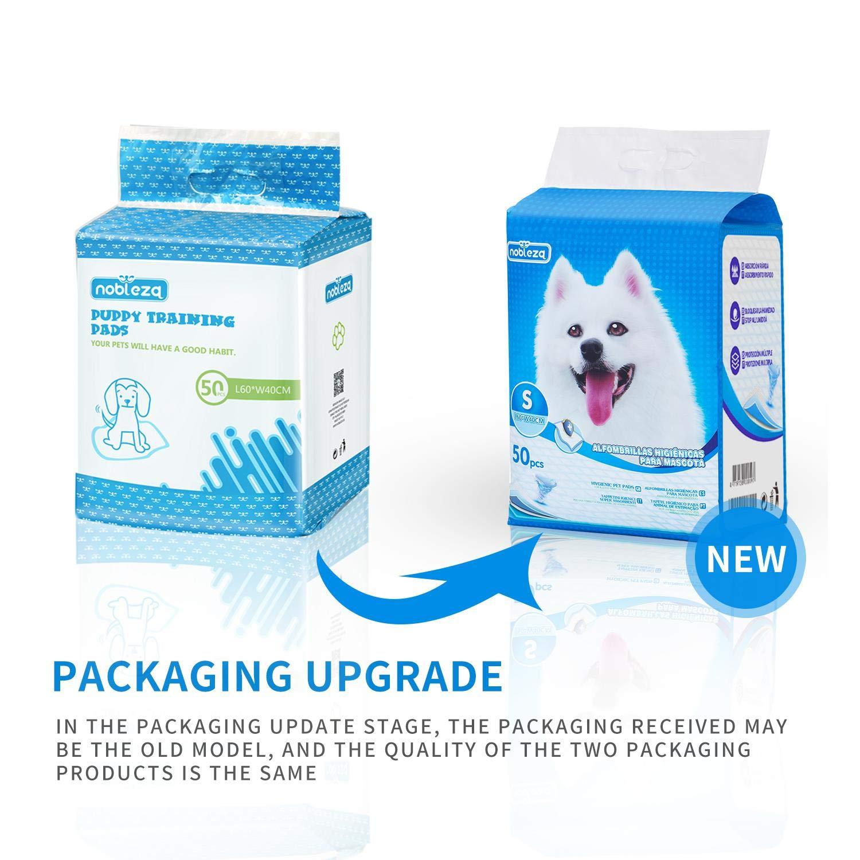 Nobleza - 50 x Empapadores Perros Alfombrilla higiénica de Entrenamiento para Perros. Ultraabsorbente 40cm*60cm.: Amazon.es: Productos para mascotas