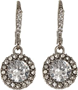 Betsey Johnson CZ Drop Earrings
