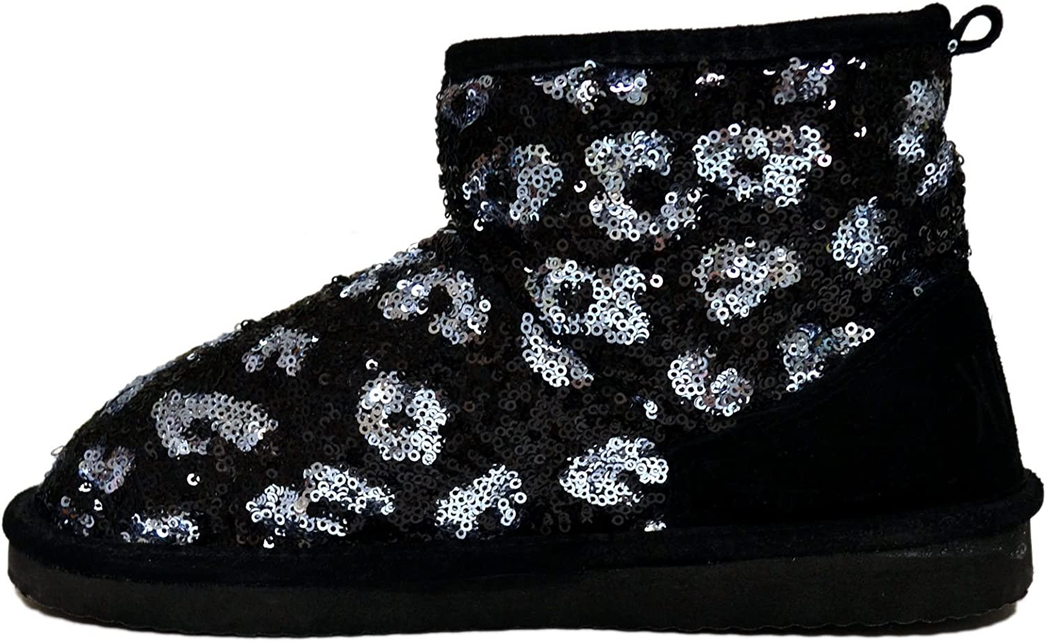 Victoria's Secret Pink Fur Lined Bootie Mukluks Boots Shoes with Bling