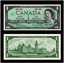1967 CA SUPERB GEM 1967 CANADA CENTENNIAL $1 BILL w YOUNG QUEEN, OLD PARLIAMENT BLDG (BILINGUAL!) $1 Gem Crisp Unicrculated in New Mylar Holder