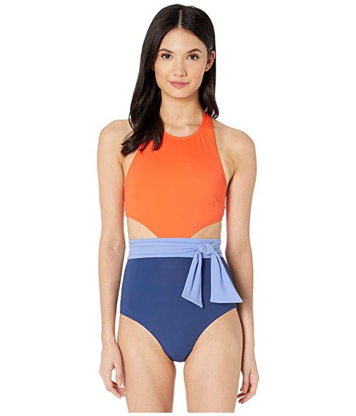 FLAGPOLE Lynn One-Piece with Sash (Aperol Multi) Women