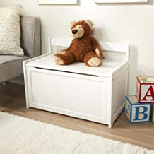 Melissa & Doug Wooden Toy Chest, Sturdy Wooden Chest (8.25 Cubic Feet of Storage, Easy to Assemble, White, Great Gift for Girls and Boys - Best for 3, 4, 5 Year Olds and Up)