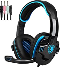 SADES SA708GT Gaming Headset for Xbox One، PS4، PC، Volume Controller، Noise Canceling Over Headphones میکروفن، Bass Surround حافظه های صوتی Soft Memory برای لپ تاپ کامپیوتر Mac