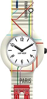 Orologio HIP HOP donna CITY MAP quadrante bianco e cinturino in silicone bianco berlin, movimento SOLO TEMPO - 2H QUARZO