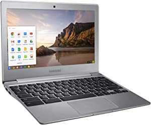 Used Well Condition Lightweight Portable Laptop with Matt Skin Film A Cover 11.6-Inch 500C Series (XE500C12) Chromebook 3 2GB RAM 16GB eMMC Chrome OS Online Class(Silver)