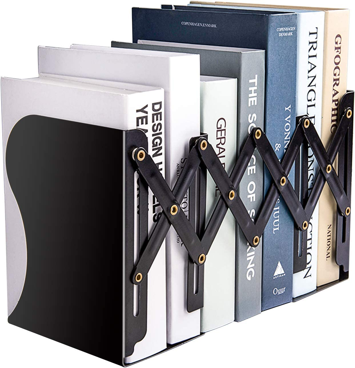 MDHAND Adjustable Bookend, Desk Magazine File Organizer Holder, Desk Organizer and Accessories for Office, Books, Papers, Extends up to 19 inches