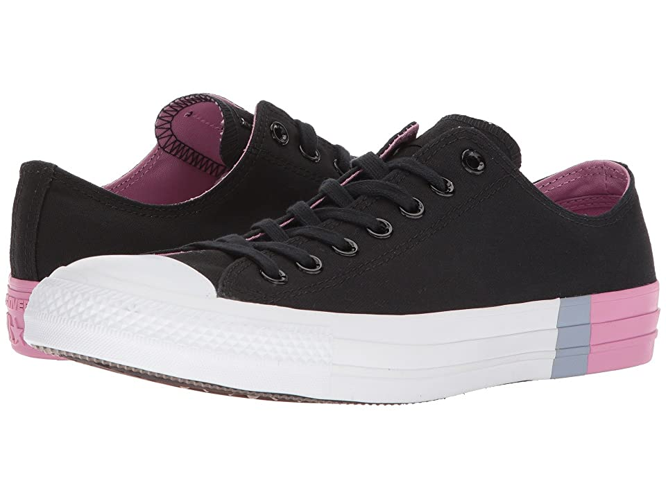 Converse Chuck Taylor(r) All Star Tri Block Midsole Ox (Black/Light Orchid/White) Classic Shoes