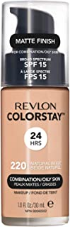 Revlon Colorstay Liquid Foundation For Combination/Oily Skin, Spf 15 Natural Beige, 1 Fl Oz