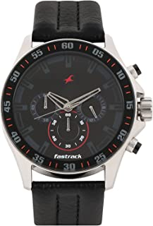 Men's 3072SL06 Casual - Chronograph - Black Leather Strap Watch