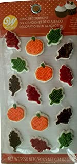 Wilton Icing Decorations 16/Pkg-Leaves & Pumpkins Dot Matrix