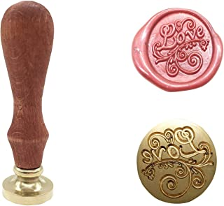 Vintage Retro Classical Wax Sealing Stamp Arts Crafts Romantic Symbol Wax Seal Stamp Metal Stamp Fancy Greetings for Wedding Invitation Letter (Gold-Love)