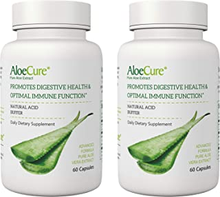 AloeCure Advanced Formula, 2-Pack, Twice a Day, 60 Capsules per Bottle, 130,000mg Equivalency, Support Your Digestive & Im...
