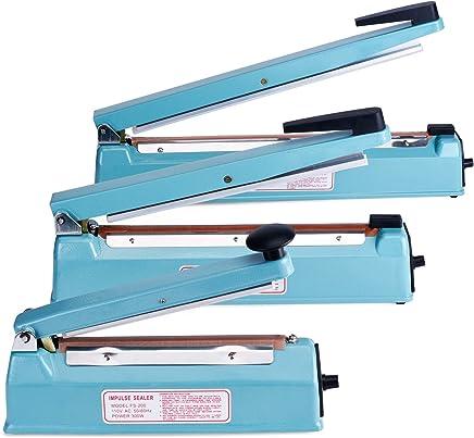 Fuxury Impulse manual bag sealer Machine Bag Sealer Heat Seal Closer + 2 Free Replacement KIT