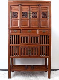 Asien Lifestyle Armoire historique en bois d'Ulmens 180 cm