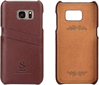 Simons of London Samsung Galaxy S7 Luxury Leather Case with Slots for ID/Bank Cards | Ultra Slim Fit Cases in Pouch and Gift Box