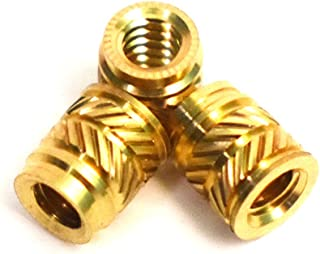 0.25 in Length 50 pcs Press Fitting or Injection Molding Type Female 6-32 Thread J/&J Products 6-32 Brass Insert 50pcs 0.219 in OD