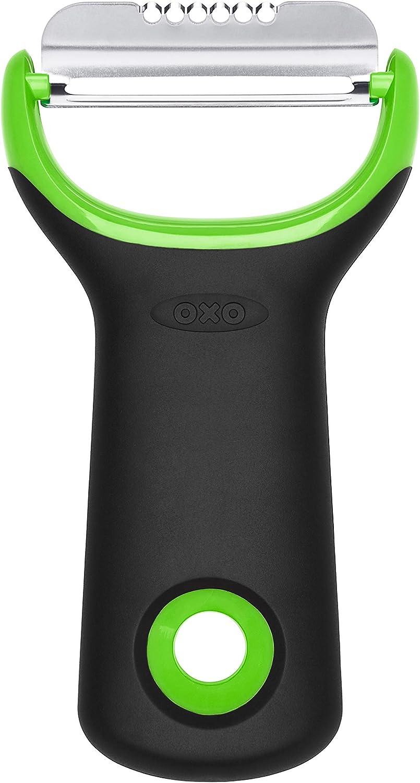 OXO Good Grips - Pelador de cítricos con cuchilla de acero inoxidable, color verde