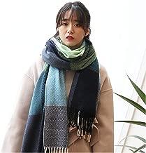 NEW Wool Scarf Women Cashmere Scarves Wide Lattices Long Shawl Wrap Blanket Warm Tippet W