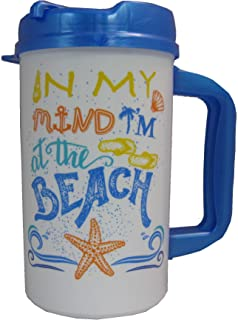 In My Mind I'm At the Beach 32 oz Insulated Travel Mug with Lid