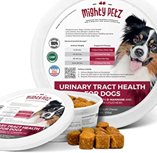 MAX Cranberry for Dogs - Cures & Prevents Painful UTI Urinary Tract Infections. Bladder Support Pills & Kidney Health. No ...
