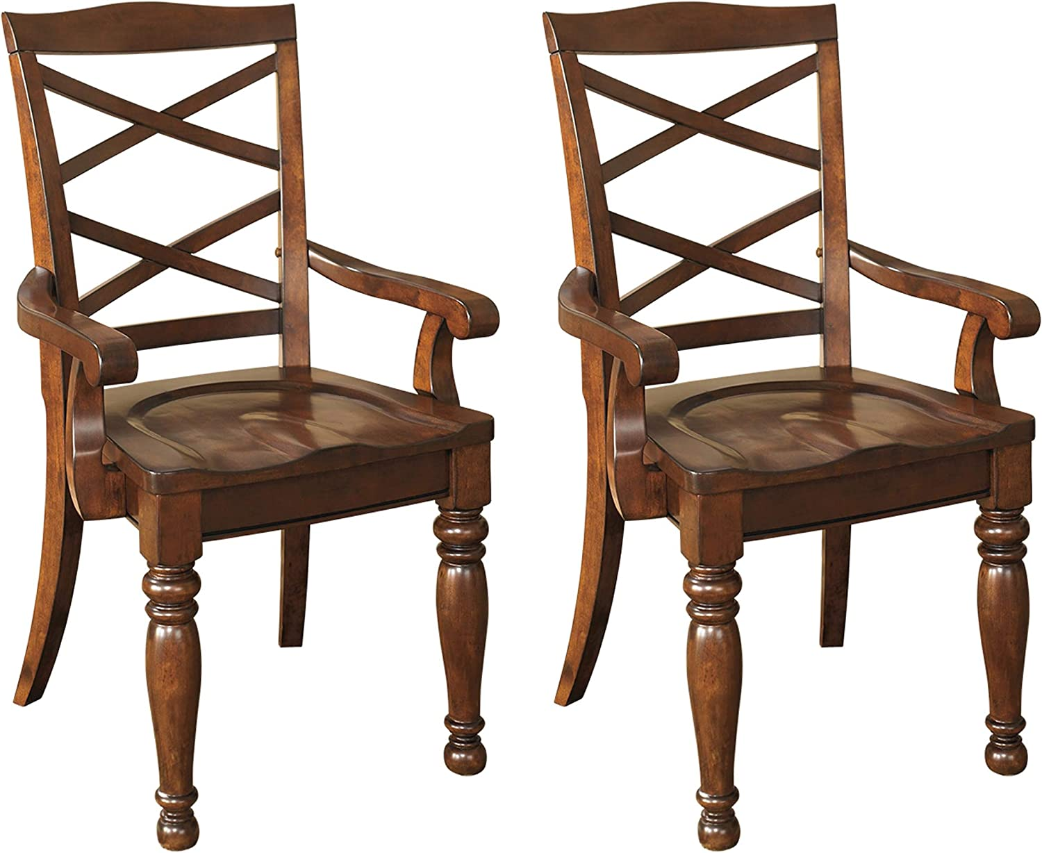 Signature Design by Ashley Porter Room Brow Chair Dining Rustic Brand Cheap Sale Venue Store