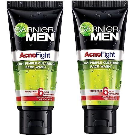 Garnier Acno Fight Face Wash for Men, 100g (Pack of 2)