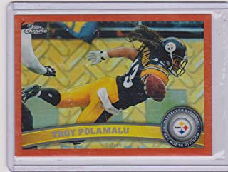 2011 Topps Chrome Refractor Parallel Troy Polamalu Steelers Football Card #180