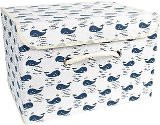 easybuy-eu Boîtes de Rangement, paniers de Rangement en Tissu de Coton paniers avec Poignées et couvercles Organisation de...