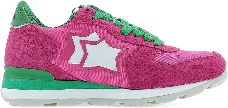 ATLANTIC STARS Women's VEGAFSF13VS Fuchsia Leather Sneakers