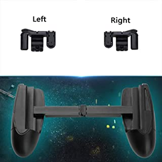 XBERSTAR Mobile Game Fire Button Aim Key Smart Phone Knives Out Rules of Survival Gaming Trigger L1R1 Shooter Gamepad Controller PUBG V3.0 (1pair of fire and aim Buttons+Clip on Gamepad)