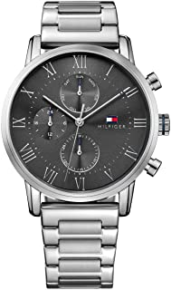 Tommy Hilfiger Kane Men's Grey Dial Stainless Steel Band Watch - 1791397