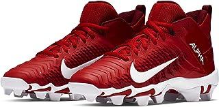 Nike Boy's Alpha Menace Shark 2 Football Cleat University Red/White Size 1.5 M US
