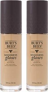 Burts Bees Goodness Glows Liquid Makeup, Linen Beige - 1.0 Ounce (Pack of 2)