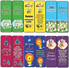 Spanish Bible Verses Bookmarks (12-Pack) (Cute Animals) - Bulk Collection & Gift with Inspirational, Motivational, Encouragement Messages