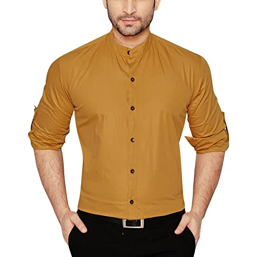 ed776830 Chinese Collar Shirt: Buy Chinese Collar Shirt Online at Best Prices ...