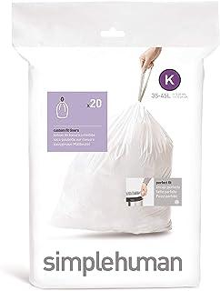 Simplehuman Code K 35-45L Custom Fit Bin Liners, White, CW0171