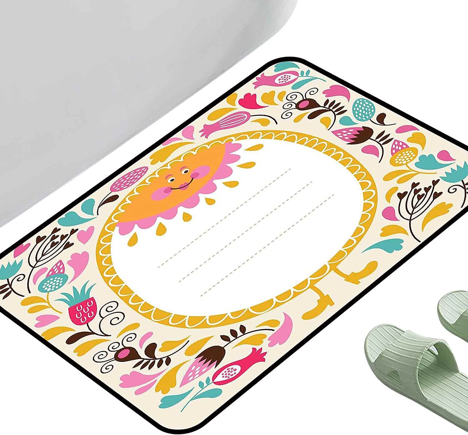 Door Carpet Area Rugs Kids Party Doodle Natural Ele Style Max 49% OFF Floral Japan Maker New
