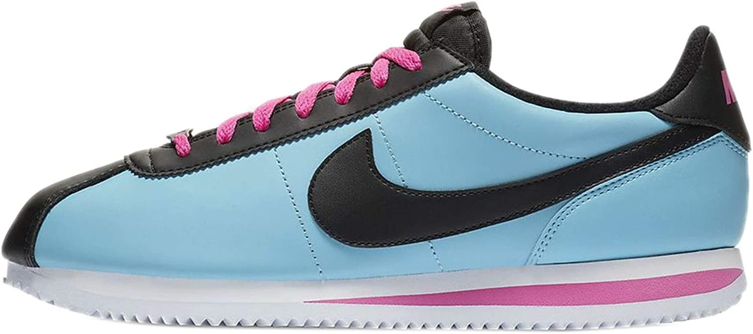 Nike Cortez - Men's bluee Gale Black Laser Fuchsia Leather Running shoes