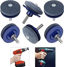 GooKit Lawnmower Blade Sharpener Lawn Mower Sharpener for Any Power Drill Hand Drill(6 Pack)
