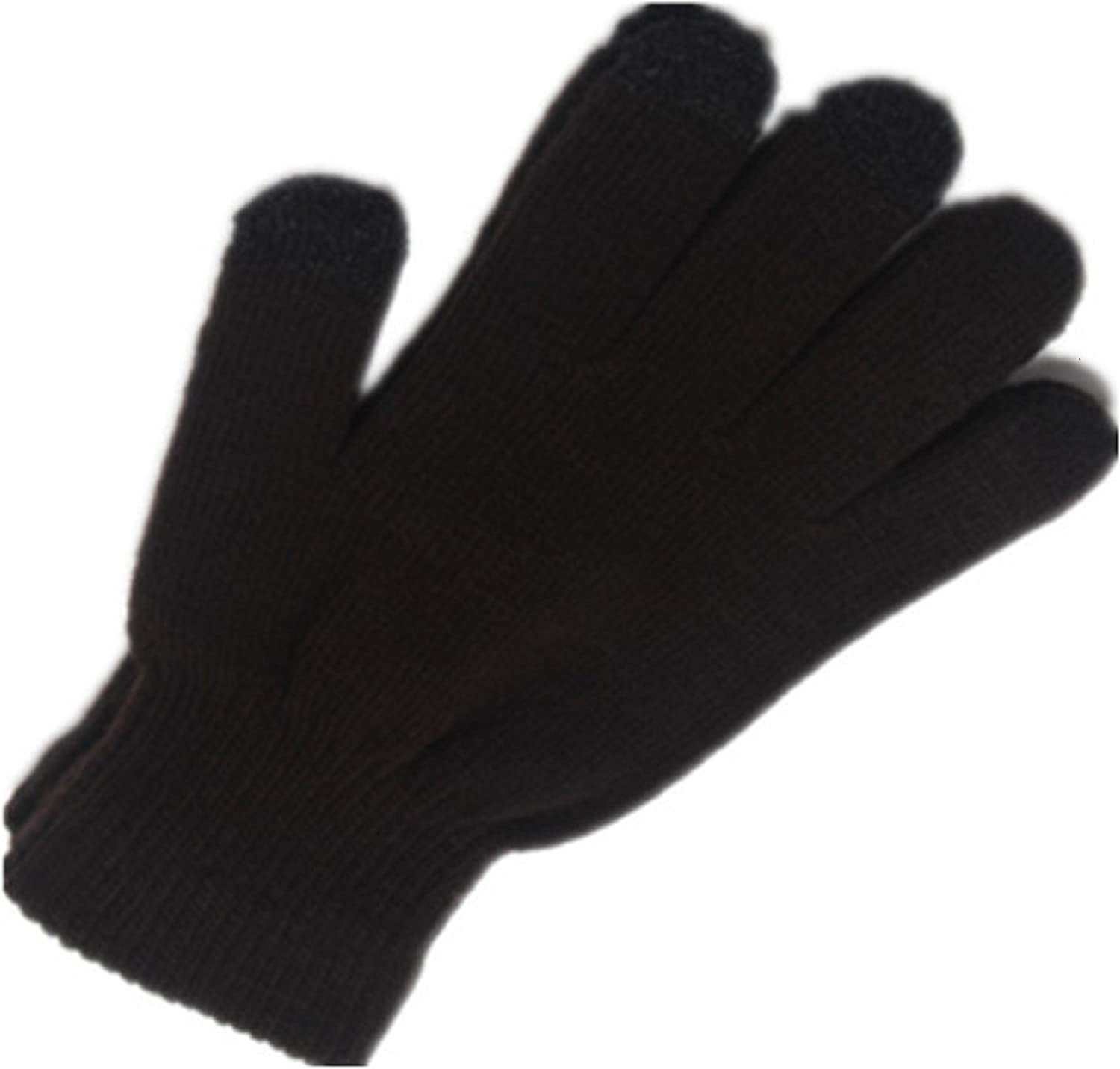1 or 2 PACK Warm Knitted Stretch touchscreen/texting winter gloves with a soft texture. Just thick enough to not be bulky.