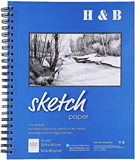 A4 Sketchbook, Paper Pad, Notebook, Acid Free White Paper 200 Pages (100 Leaves)